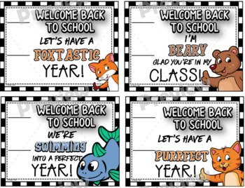 Welcome Back to School Pencil Cards Set ~ $1.00 Deal