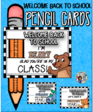 Welcome Back to School Pencil Cards Set