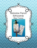 Welcome Pencils [Bee Theme]