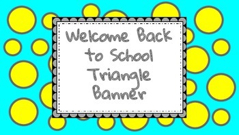 Welcome Back to School Pennant Banner
