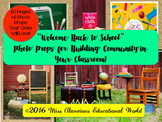Welcome Back to School Photo Props for Building Community in Your Classroom!