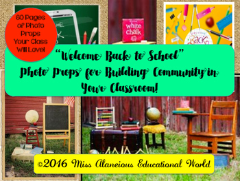 Welcome Back to School Photo Props for Building Community