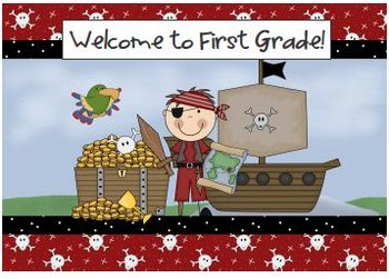Welcome Back to School Pirate Postcards