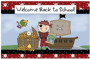 Welcome Back to School Pirate Postcards All Grades