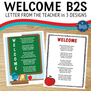 Welcome Letter for Students