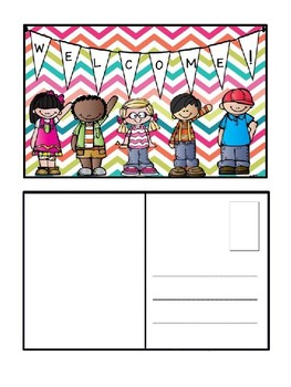 Editable Welcome Back to School Post Cards