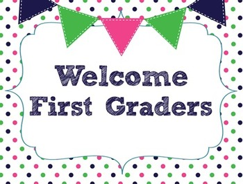 Welcome Back to School Postcard for First Grade