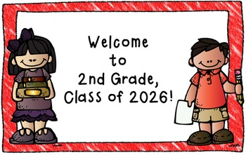 Welcome Back to School Postcards K-5