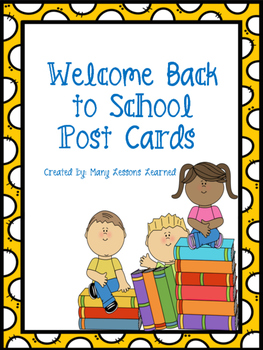Welcome Back to School Postcards