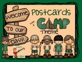 Welcome Back to School Postcards Camp Theme with Editable Text