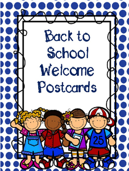 Welcome Back to School Postcards - Editable