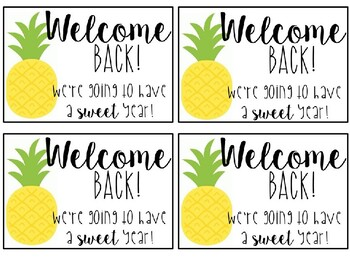 Welcome Back to School Postcards - Pineapple Themed - Editable