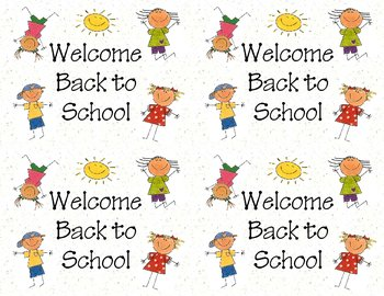 Welcome Back to School Postcards (printable)