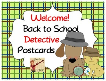 Welcome Back to School Postcards with a Detective Theme
