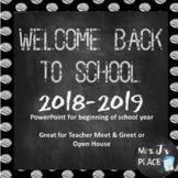 Welcome Back to School Chalkboard PowerPoint