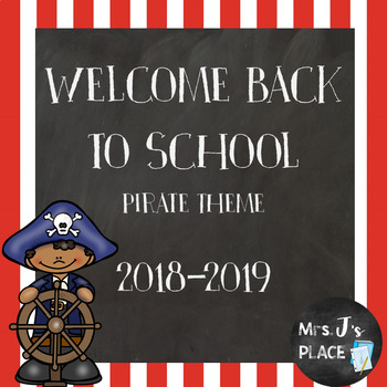 Welcome Back to School Powerpoint for Parents/Students Pirate Theme