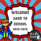 Welcome Back to School Powerpoint for Parents/Students Sup