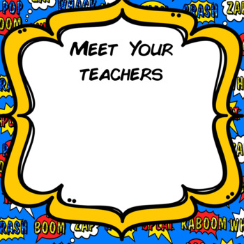 Welcome Back to School Powerpoint for Parents/Students Superhero Theme