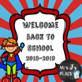 Welcome Back to School Powerpoint Superhero Theme