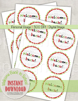 Welcome Back to School - Printable Tag for Students from Teacher
