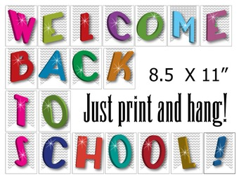 Welcome Back to School! Sign set for Room Decoration  - PDF in Vector Format