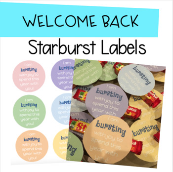 """Welcome Back to School """"Starburst"""" Labels"""