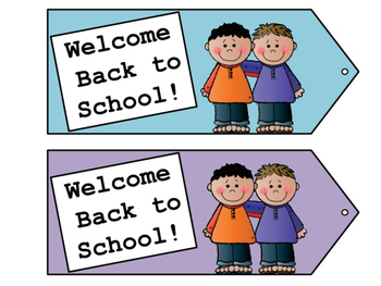 Welcome Back to School Tags - Welcome Tags - Gift Tags