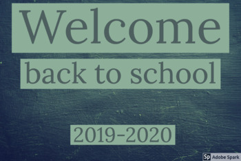 Welcome Back to School display