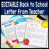 Back to School Letter for Parents AND Students: 3 Designs in Color & Black