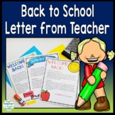 Back to School Letter for Parents AND Students: 3 Designs