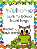 Welcome Back to School Treat Bags Toppers