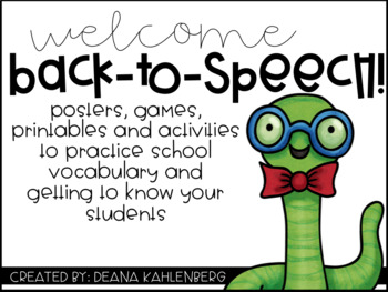 Welcome Back to Speech!