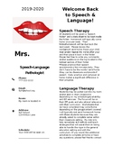 Welcome Back to Speech and Language Letter
