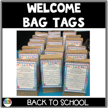 Welcome Bag Goodies Tag