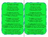 Welcome Bag/Back to School Poem Kit