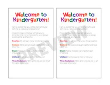 Welcome To Kindergarten! Treat Bags