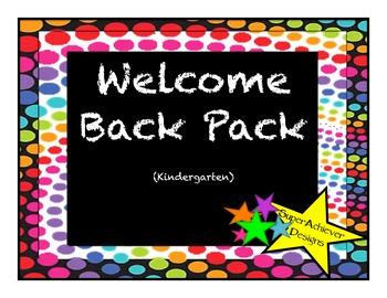 Welcome Back Pack Kindergarten_Colorful Dots