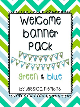 Welcome Banner: Green and Blue