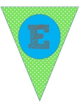 Welcome Banner- Green/Blue