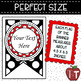 Editable Welcome Banner {Polka Dot and Red}