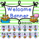 Classroom Decor : Owl Theme - Welcome Banner