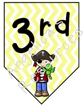 Pirate Welcome Banner (Color and Black and White Included)