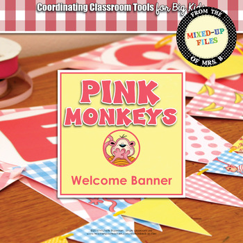 Pink Monkeys Welcome Banner