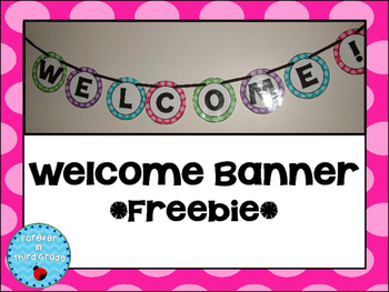 Welcome Banner Freebie