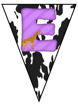 Welcome Banner {Animal Print Themed}