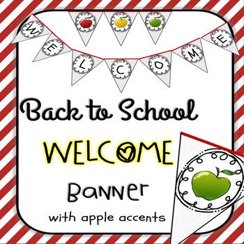 Welcome Banner Farmhouse Apple Theme