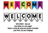 Welcome Banner - Back to School