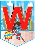 Welcome Banner Back to School Superhero Theme
