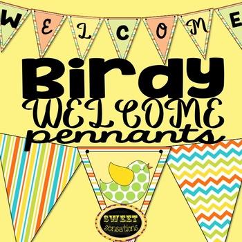 Welcome Banner (Bird Theme)