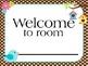 Welcome Banner (Bird Theme)  Classroom decoration